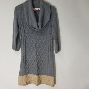 Anthropologie Spaarow Cowlneck Sweater Dress S